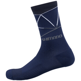 Shimano Original Tall Socks navy/white line